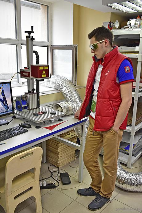 Лазерный станок МиниМаркер-2 для тренировки участников чемпионата WorldSkills