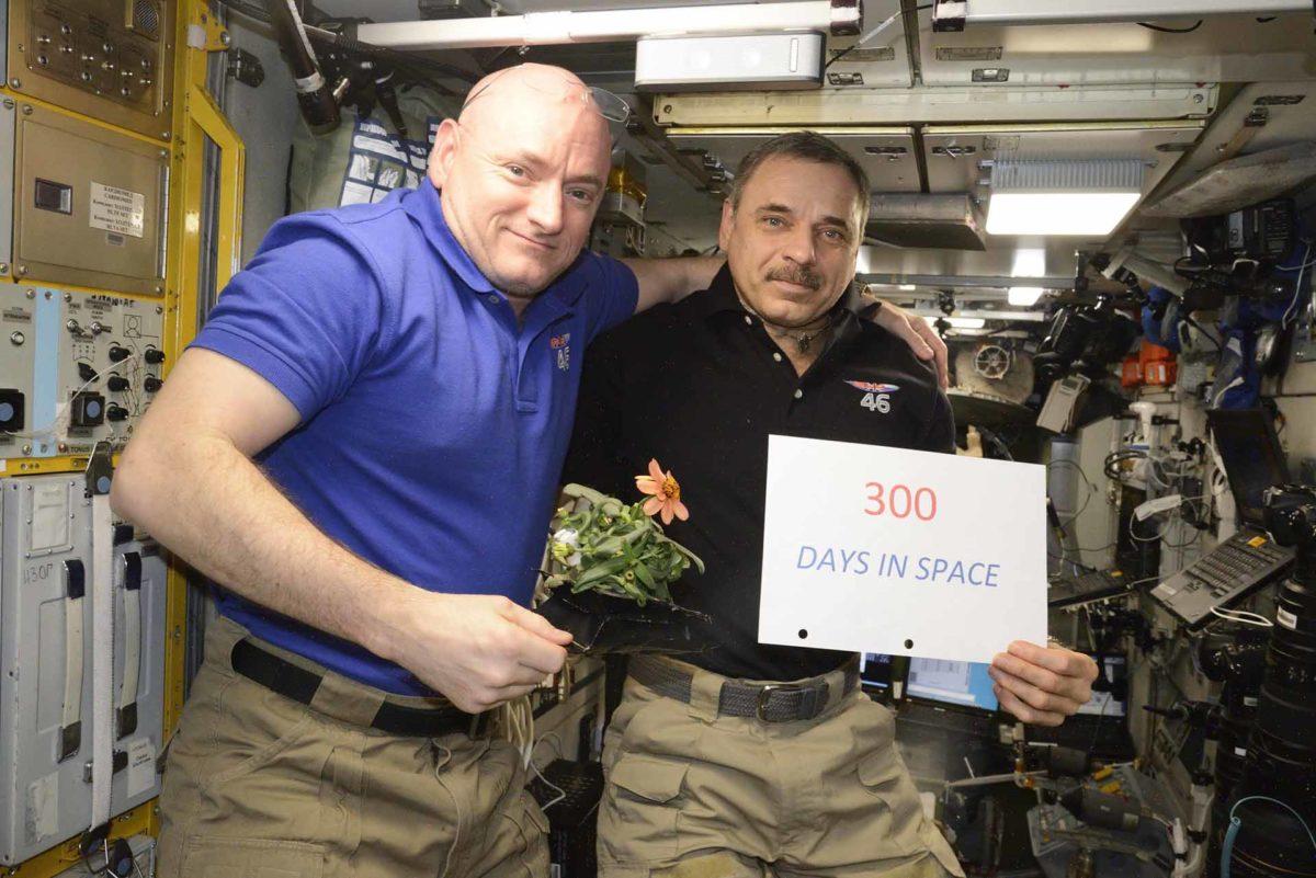 Скотт Келли (США) и Михаил Корниенко (Россия): 300 дней космической самоизоляции. Фото: roscosmos.ru