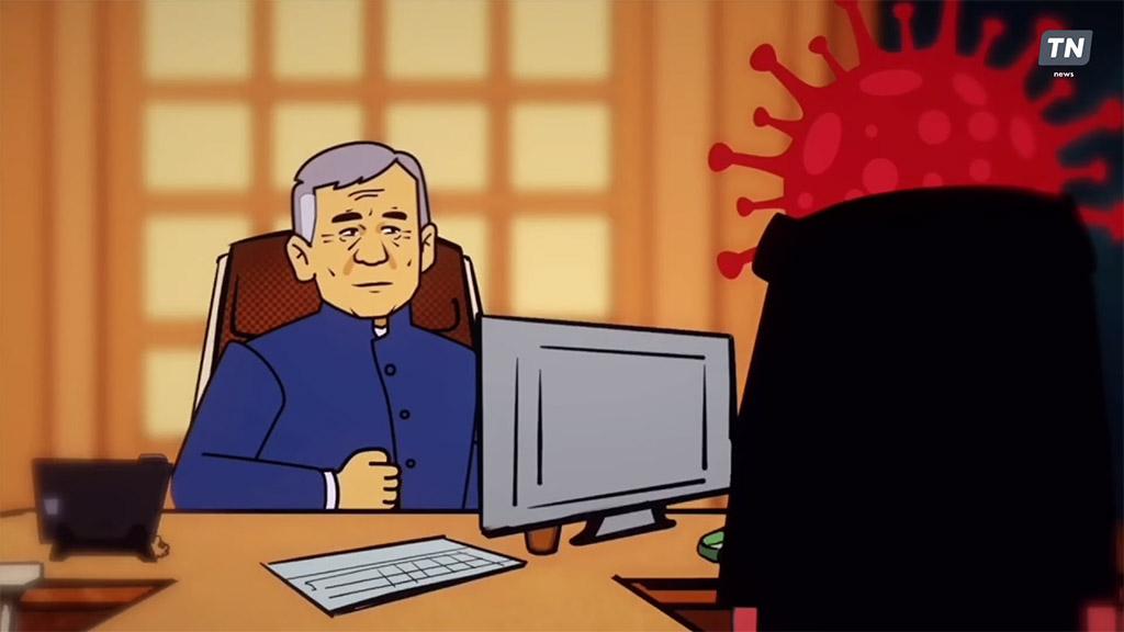 Однажды на Площади Свободы. Стоп-кадр из мультфильма на Youtube-канале Tatarstan News
